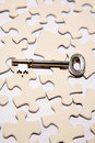 Key on puzzle Royalty Free Stock Photo