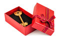Key in red box Royalty Free Stock Photo