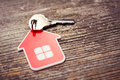 Key and Red House Royalty Free Stock Photo