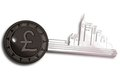 Key Ring with London cityscape Royalty Free Stock Images