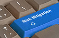 key for risk mitigation Royalty Free Stock Photo