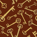 Key seamless background vintage collection retro pattern lucky retro wallaper Royalty Free Stock Image