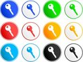 Key sign icons Royalty Free Stock Images