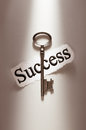 Key for success vintage with tag Royalty Free Stock Photography