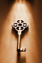 Key to keys of conceptual things in dramatic lighting Royalty Free Stock Image