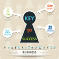 Key to Success in Business Illustration Royalty Free Stock Photo