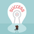 Key to success businessman standing in front of his target vector Royalty Free Stock Photography
