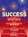 Key to success four steps vector illustration Stock Photos
