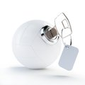 Key volleyball ball on a white background Stock Image