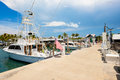 Key west bight marina florida usa june charter boats available for hire at the in Stock Photo