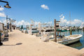 Key west bight marina florida usa june charter boats available for hire at the in Stock Photos