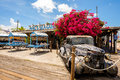Key west bight marina florida usa june the popular mac s sea garden restaurant located in in Stock Photo