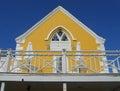 Key West Florida Yellow Cafe Stock Photo