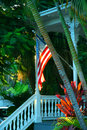 Key West Porch Royalty Free Stock Photo