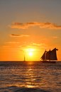 Key West Sunset Royalty Free Stock Photos