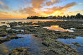 Key West Sunset - Florida Keys - Reflections in Tide Pools Royalty Free Stock Photo
