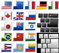 Keyboard with 17 different keys Stock Photos