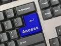 Klávesnice modrý klíč přístup
