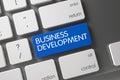 Keyboard with Blue Keypad - Business Development. 3D.