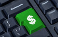 Keyboard button with symbol of dollar. Royalty Free Stock Photo