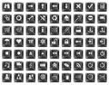 Keyboard button symbols Royalty Free Stock Image