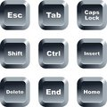 Keyboard buttons Stock Photo