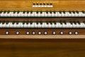 Keyboard church organ detail of closeup Royalty Free Stock Image