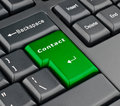 Keyboard contact button Royalty Free Stock Image