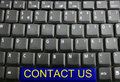 Keyboard - contact us Stock Images