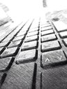 Keyboard drawing artistic Royalty Free Stock Photography