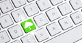Keyboard with an eco option white Royalty Free Stock Photos