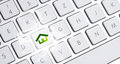 Keyboard with an eco option white Royalty Free Stock Photo