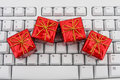 Keyboard with a gifts Royalty Free Stock Image