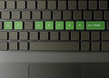 Keyboard with go green button Stock Photos