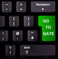 Keyboard go to gate Stock Image