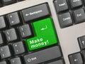 Keyboard - green key Make money Royalty Free Stock Photo