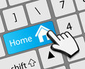 Keyboard Home button with mouse hand cursor vector Royalty Free Stock Photo