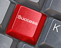 Keyboard with hot key for success Stock Images