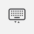 Keyboard icon, vector logo, linear pictogram isolated on white, pixel perfect illustration.