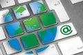 Keyboard internet Royalty Free Stock Photo