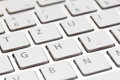 Keyboard of a modern laptop white close up Royalty Free Stock Photo