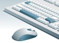 Keyboard and mouse vector of computer on gray background Stock Images