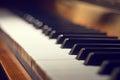 Keyboard Of Piano.