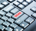 Keyboard with send button part of special red Royalty Free Stock Photos