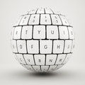 Keyboard sphere Royalty Free Stock Photo
