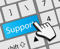 Keyboard support button with mouse hand cursor Royalty Free Stock Photo