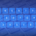 Keyboard a virtual computer with letters Stock Photography
