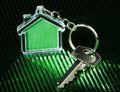 Keychain and key Royalty Free Stock Photos