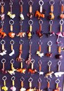 Keychain in market is handmade thai Stock Images
