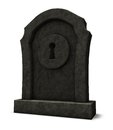 Keyhole on gravestone a d illustration Stock Image